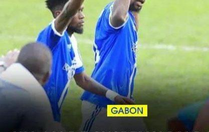 CAF-L'ATTAQUANT GABONAIS DE BOUENGUIDI SPORTS DJOE BOUSSOUGOU RATTRAPER PAR LA PATROUILLE